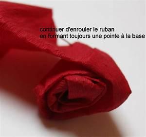 Comment Faire Une Rose En Papier Facilement : comment faire une rose en papier crepon ~ Nature-et-papiers.com Idées de Décoration