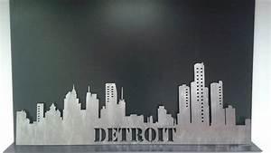Detroit & Michigan Dunmor Metal Art