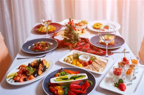 Mashed sweet potatoes, roasted brussels sprouts, and more delicious sides make this menu the perfect holiday meal. Christmas Dinner. A Table In The Restaurant, Served For ...