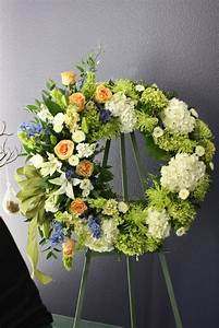 unique sympathy flower arrangements | funeral wreath like ...