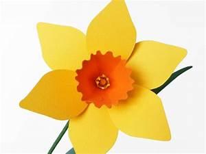 Blumen Basteln Vorlage : blumen basteln narzissen basteln diy pdf ~ Frokenaadalensverden.com Haus und Dekorationen