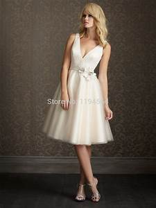 sexy v neck short wedding dresses a line bridal gowns With wedding dress short