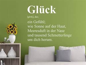 Zuhause Im Glück Jugendzimmer : wandtattoo gl ck definition wandtattoo de ~ Markanthonyermac.com Haus und Dekorationen