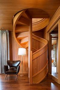 Flowing, Spiral, Wood, Staircase, Is, A, Work, Of, Art