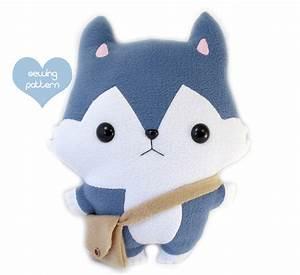PDF sewing pattern - Wolf Husky stuffed animal - easy ...