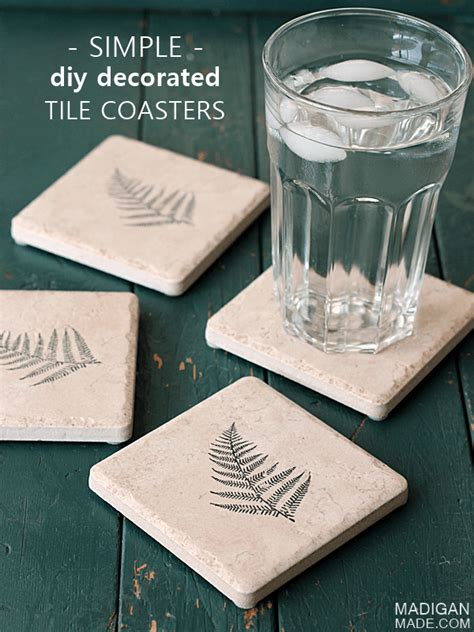 diy tile coasters 14 easiest and cutest diy tile coaster projects shelterness