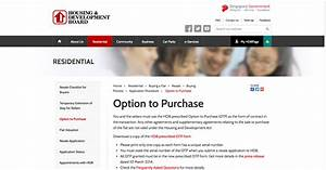 Official HDB Option to Purchase - All Home Stuff