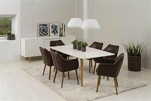 Retro Stühle Günstig : essgruppe mit 6 st hlen mit armlehne tischgruppe mit kunstlederst hlen 7tlg komplett tisch wei ~ Eleganceandgraceweddings.com Haus und Dekorationen