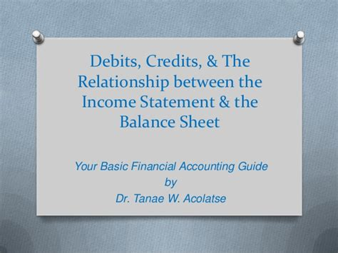 debits credits the relationship between the income statement th