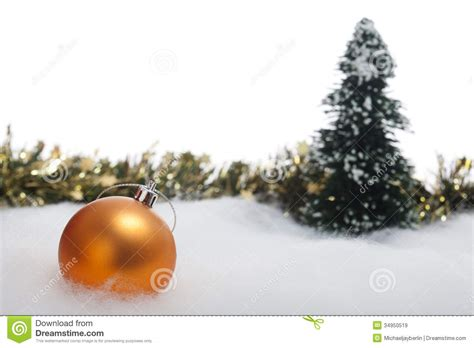 christmas bauble with fir tree and garland royalty free stock images image 34950519
