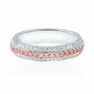 Pink Diamond Pave Wedding Ring