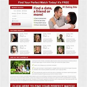 dating landing page design templates for your online With dating site about me template