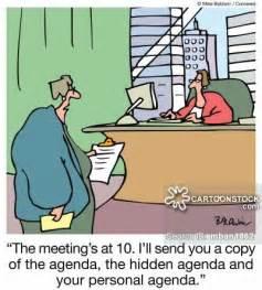 Meeting Agenda Cartoon