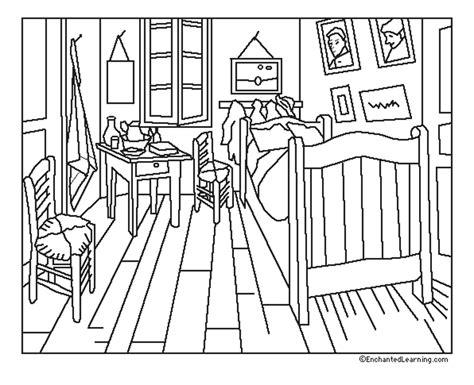 la chambre à coucher de gogh 38 dessins de coloriage chambre à imprimer sur laguerche