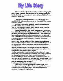 My Real Life Story Essay  Mistyhamel My Life Story Essay Examples Best Article Writing Service also Writing A High School Essay  College Vs High School Essay Compare And Contrast