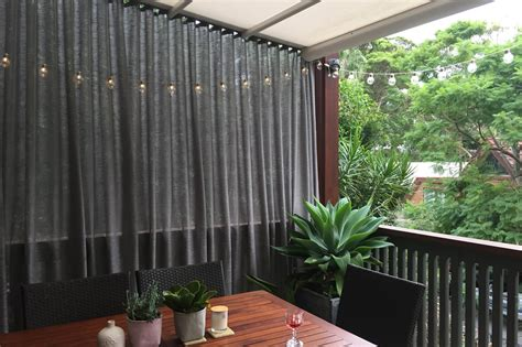 Outdoors Curtains : Create Shade With An Outdoor Curtain