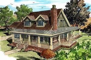 Classic Country Farmhouse House Plan - 12954KN ...