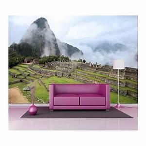 Papier Peint Geant : papier peint g ant d co montagne brumeuse 250x360cm art ~ Premium-room.com Idées de Décoration
