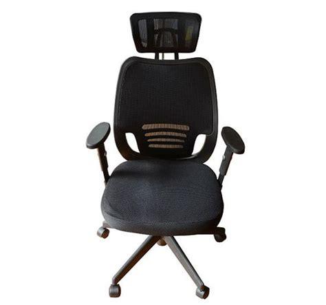 ergonomic mesh office chair with headrest black aosom ca