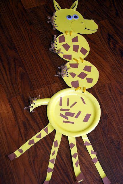 paper plate pals giraffe crafts crafts preschool crafts