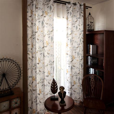 American Draperies by American Style Bird Pattern Beige Country Curtains