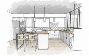 Plan De Cuisine 3d : meilleur plan cuisine avec ilot central 5 cuisines et nos ~ Nature-et-papiers.com Idées de Décoration