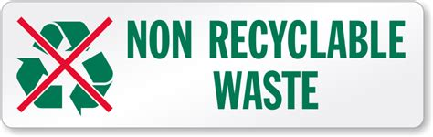 garbage disposal reviews non recyclable waste signs