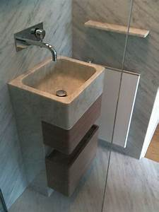 colonne vasque salle de bain marbre blanc carrare france With colonne vasque salle de bain