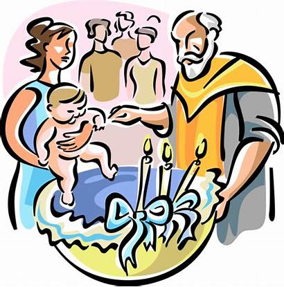 Baptism Vector Clipart Orthodox Clip Illustration Baptisms