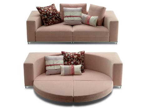Sectional Upholstered Sofa Nesting By Saba Italia