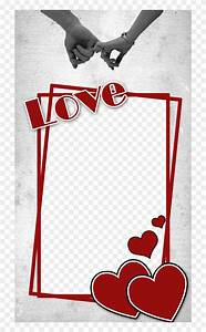 Love, Frame, With, Heart