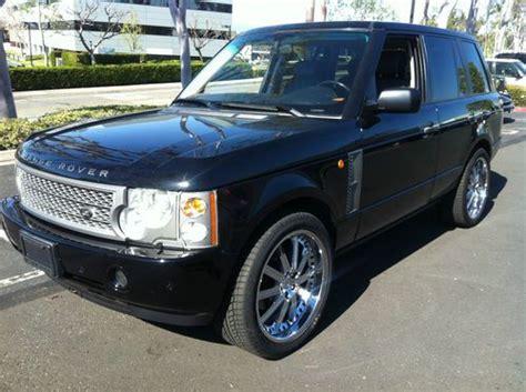 luxury black range rover buy used 2004 range rover full size hse luxury black on