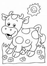 Cow Coloring Tulamama Easy Koeien Farm Animal Printable Colouring Sheets Kleurplaat Adult Grass Drawing Little Kinderfilmpjes Kleurplaten Boys sketch template
