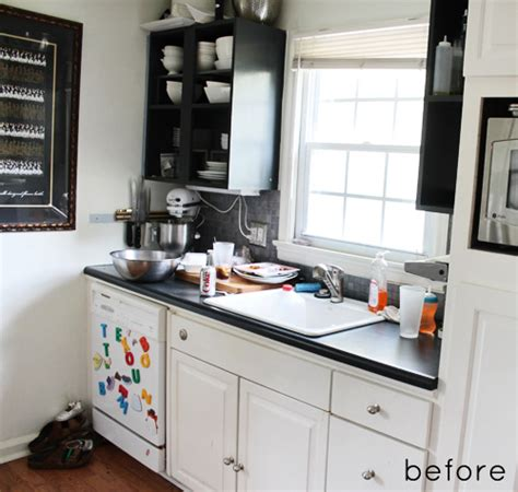 small kitchen makeover before and after before after tiny kitchen makeover design sponge 9340