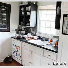 Before & After Tiny Kitchen Makeover  Design*sponge