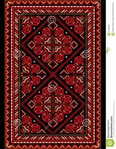 tapis lumineux dans le style ancien avec le rouge et les With tapis style ancien
