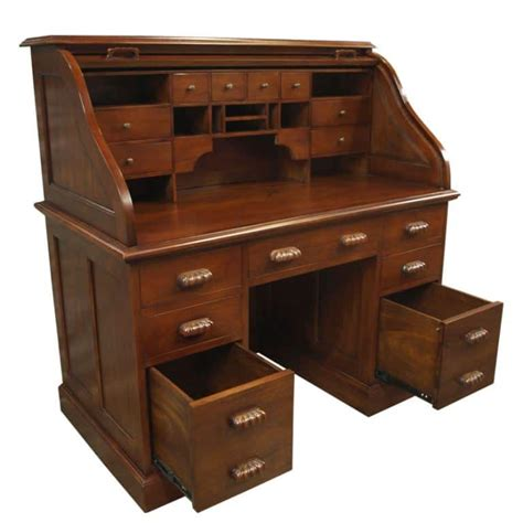 bureau office roll top bureau mahogany akd furniture
