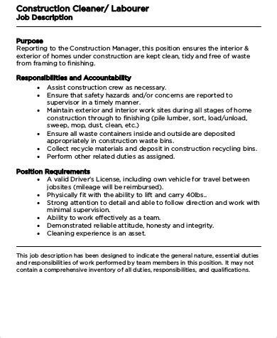 construction manager description construction project