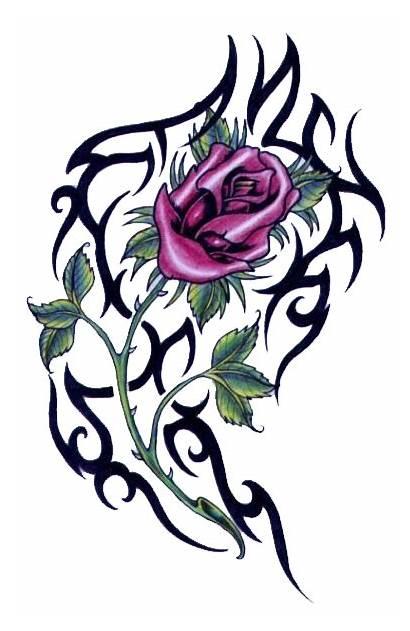 Tattoo Designs Flower Tribal Rose Clipart Tattoos