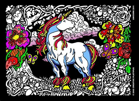 imagination unicorn   fuzzy velvet coloring