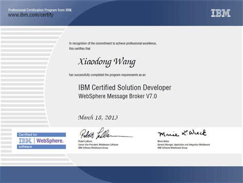 ibm websphere application server resume ibm certificates