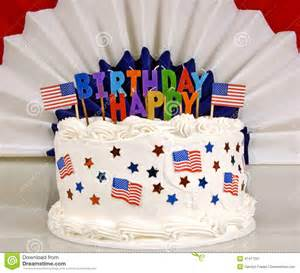 Happy July 4th Birthday Cake