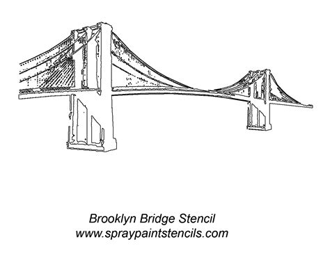 Golden Gate Clipart Brooklyn Bridge Pencil And In Color