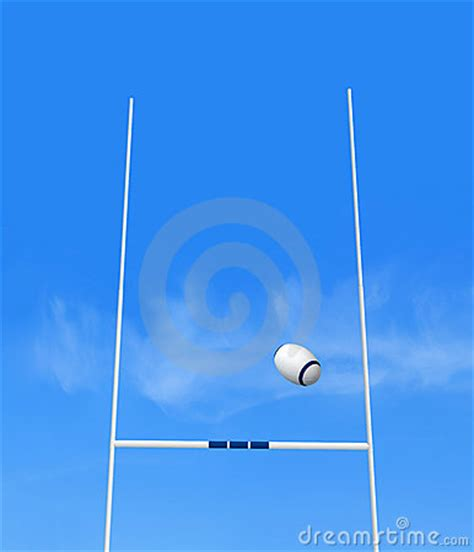 rugby goal royalty  stock photo image