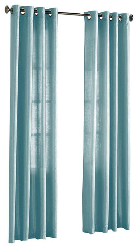 hlc me pair of faux silk grommet curtain panels light