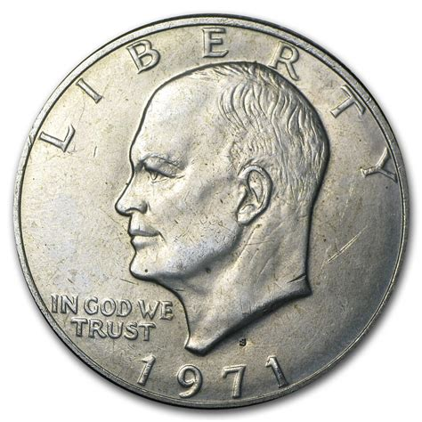 specifications eisenhower silver dollars 1971 s 40 silver eisenhower dollar bu sku 5005 ebay