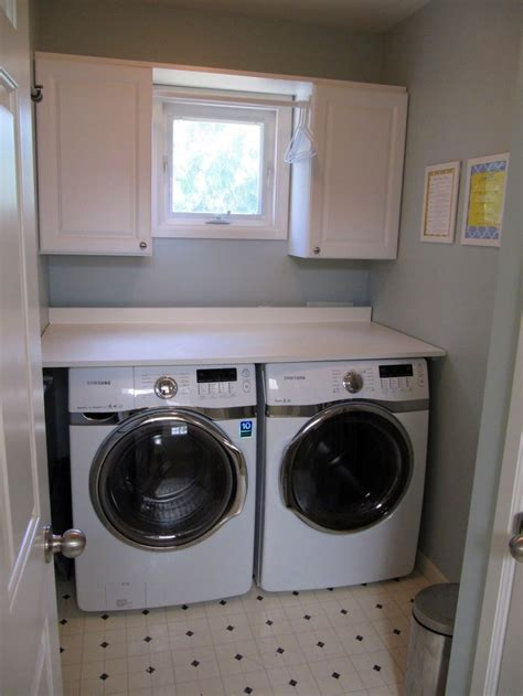 white small cabinets for small laundry room designs