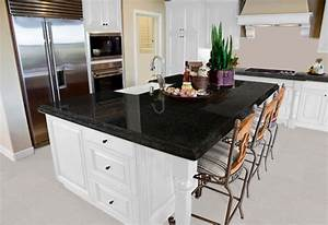 What color granite goes with white cabinets?