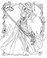 Witch Coloring Pages Adults Printable sketch template