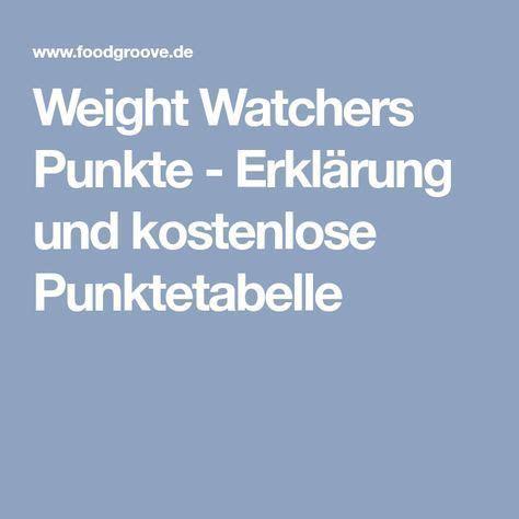 weight watchers punkte erklaerung und kostenlose